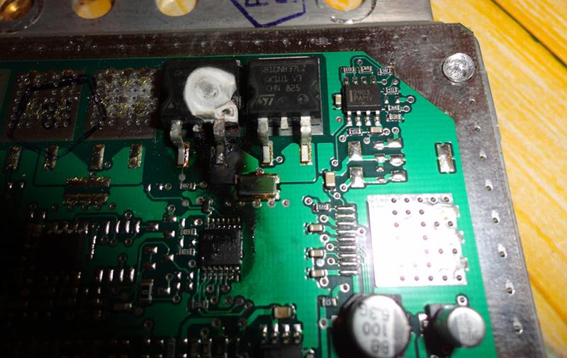 Сгорел транзистор на ЭБУ